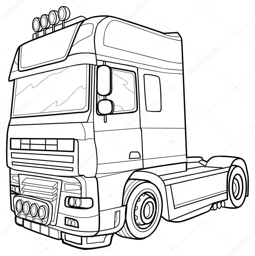 Kleurplaat Vrachtwagen Auto Electrical Wiring Diagram