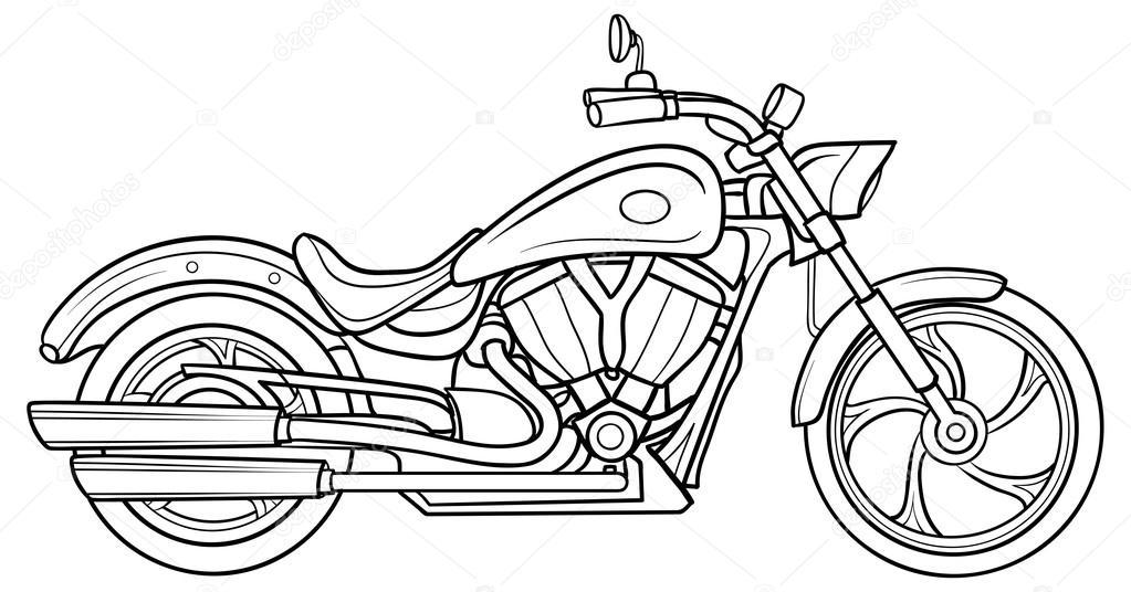 Sketch Motorcycle Stock Vector Kopirin 58287419