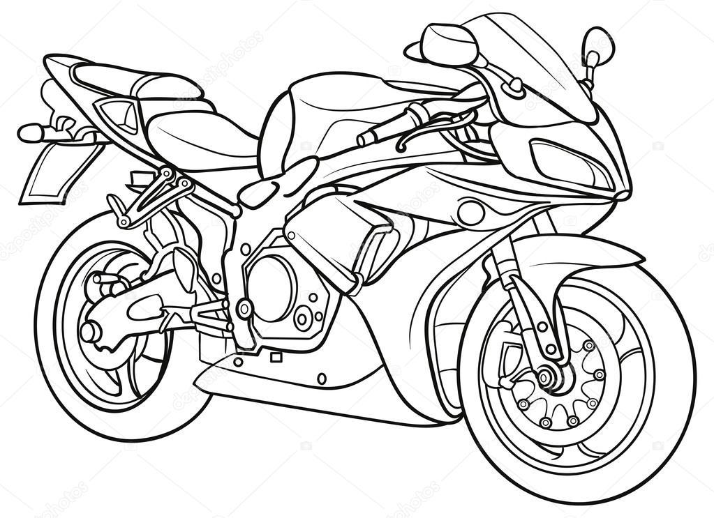 Sketch Motorcycle — Stock Vector © Kopirin #58287635