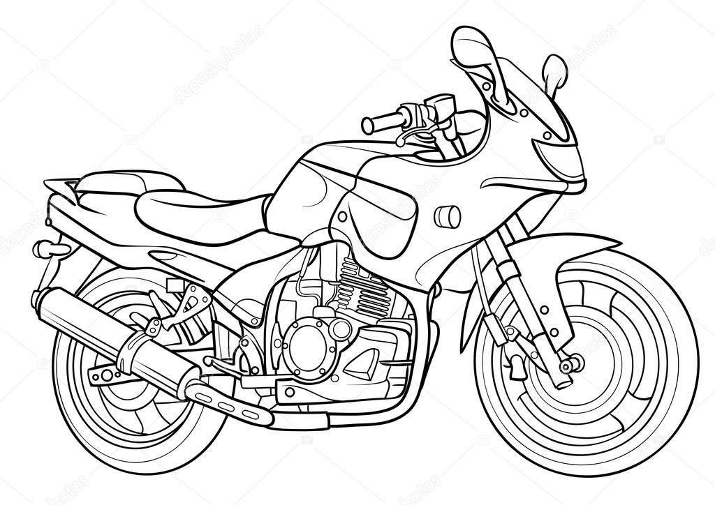 Outline Motorcycle illustration — Stock Vector © Kopirin