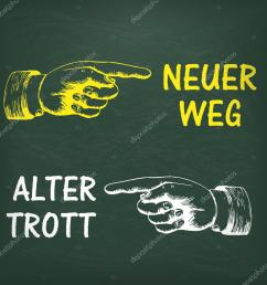 new way and old way in german ilustraci n de stock [ 1024 x 1024 Pixel ]