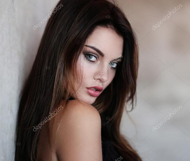 Gorgeous Brunette Woman Stock Photo