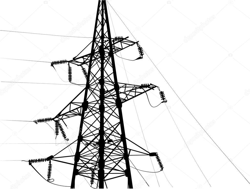 black electric pylon — Stock Vector © Dr.PAS #84262052