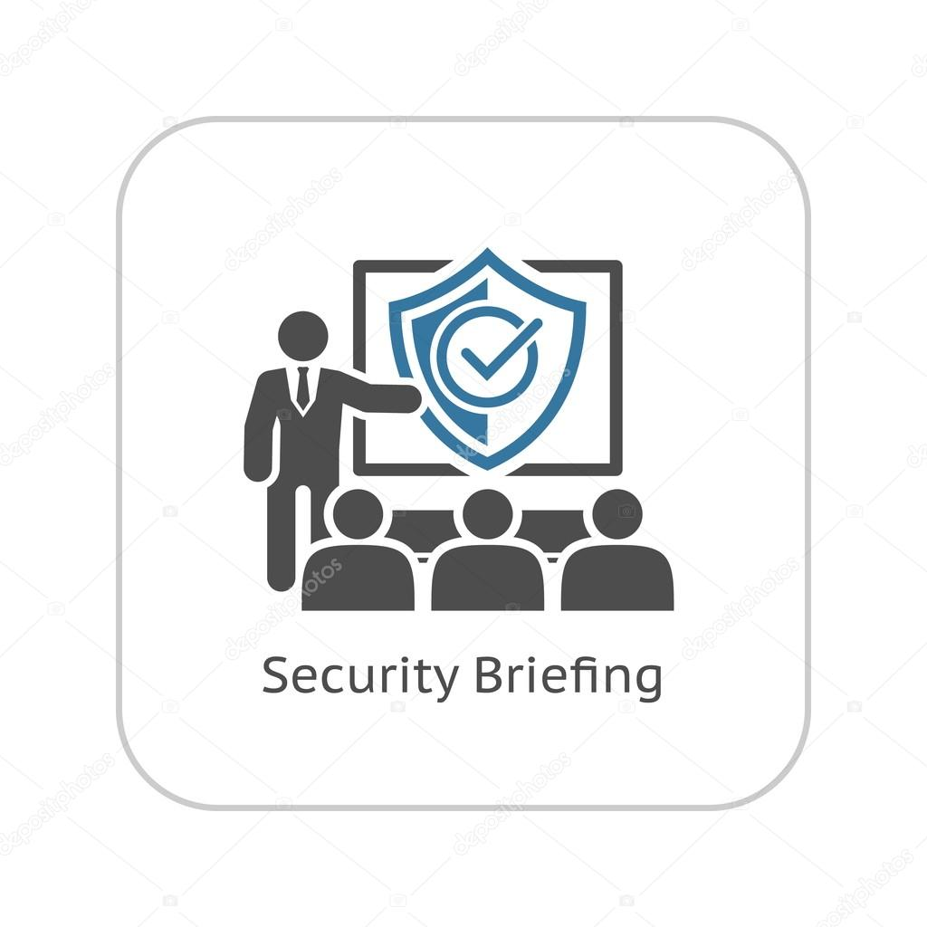 Security Briefing Icon Business Concept