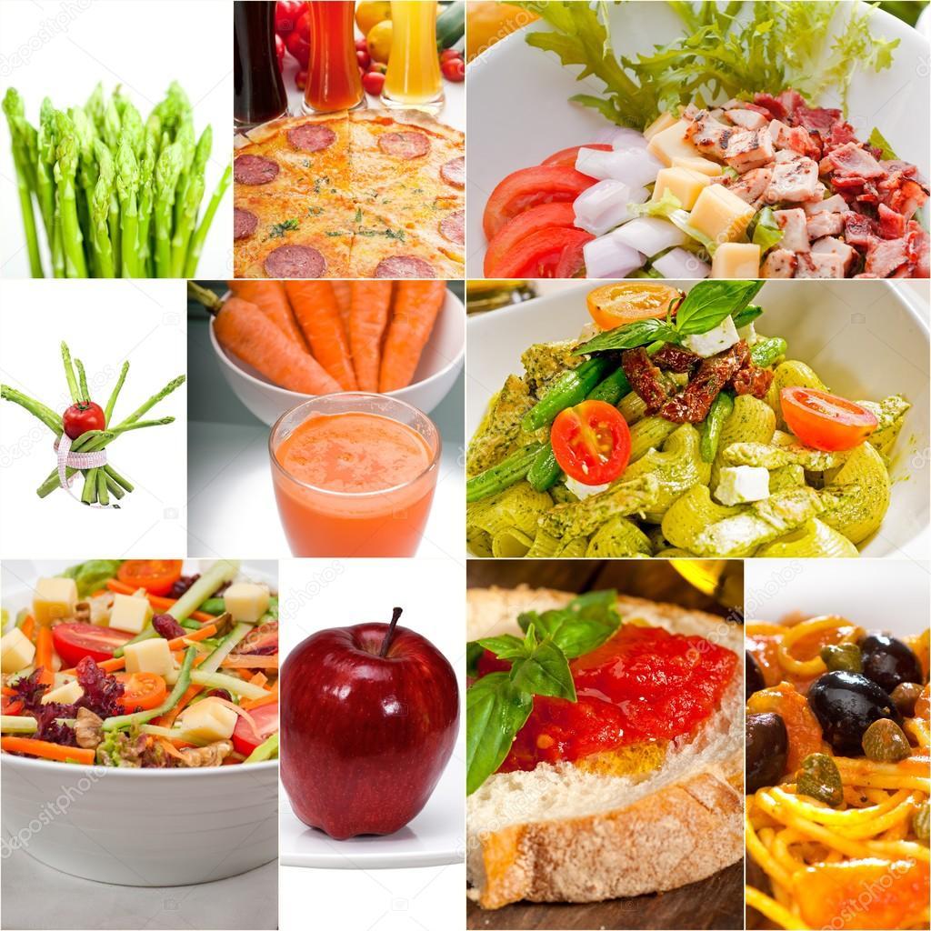 collage de comida saludable vegetariana vegana  Foto de