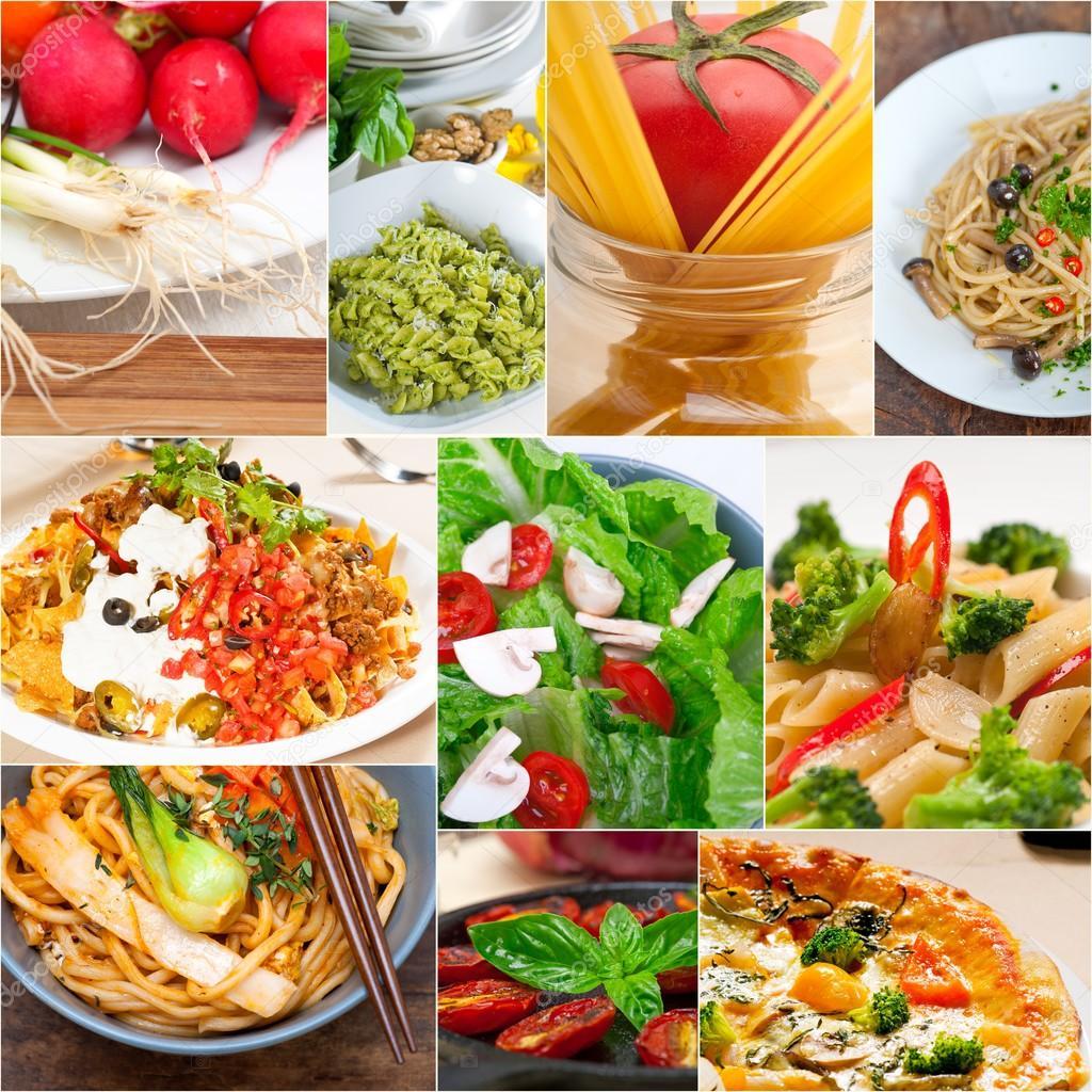 collage de comida saludable vegetariana vegana  Fotos de
