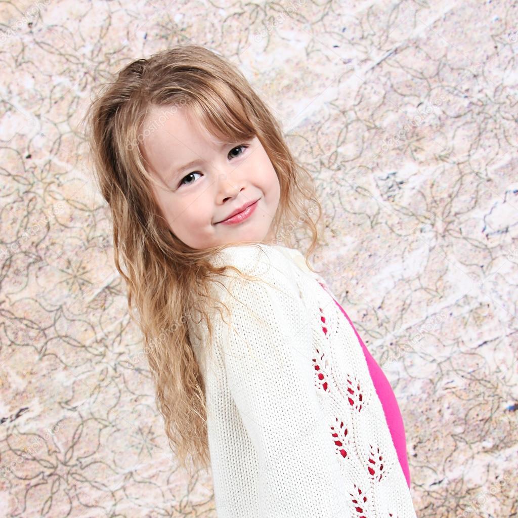 Little girl smiling — Stock Photo © melking #53116001
