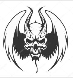 fierce gargoyle fantasy winged beast isolated on white vector by digital clipart [ 1024 x 1024 Pixel ]