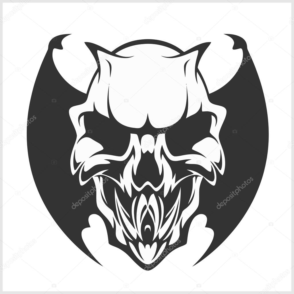 hight resolution of fierce gargoyle fantasy winged beast isolated on white vector by digital clipart