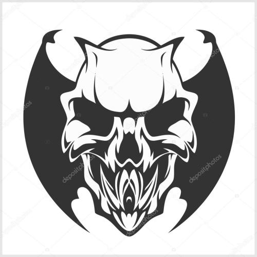 small resolution of fierce gargoyle fantasy winged beast isolated on white vector by digital clipart