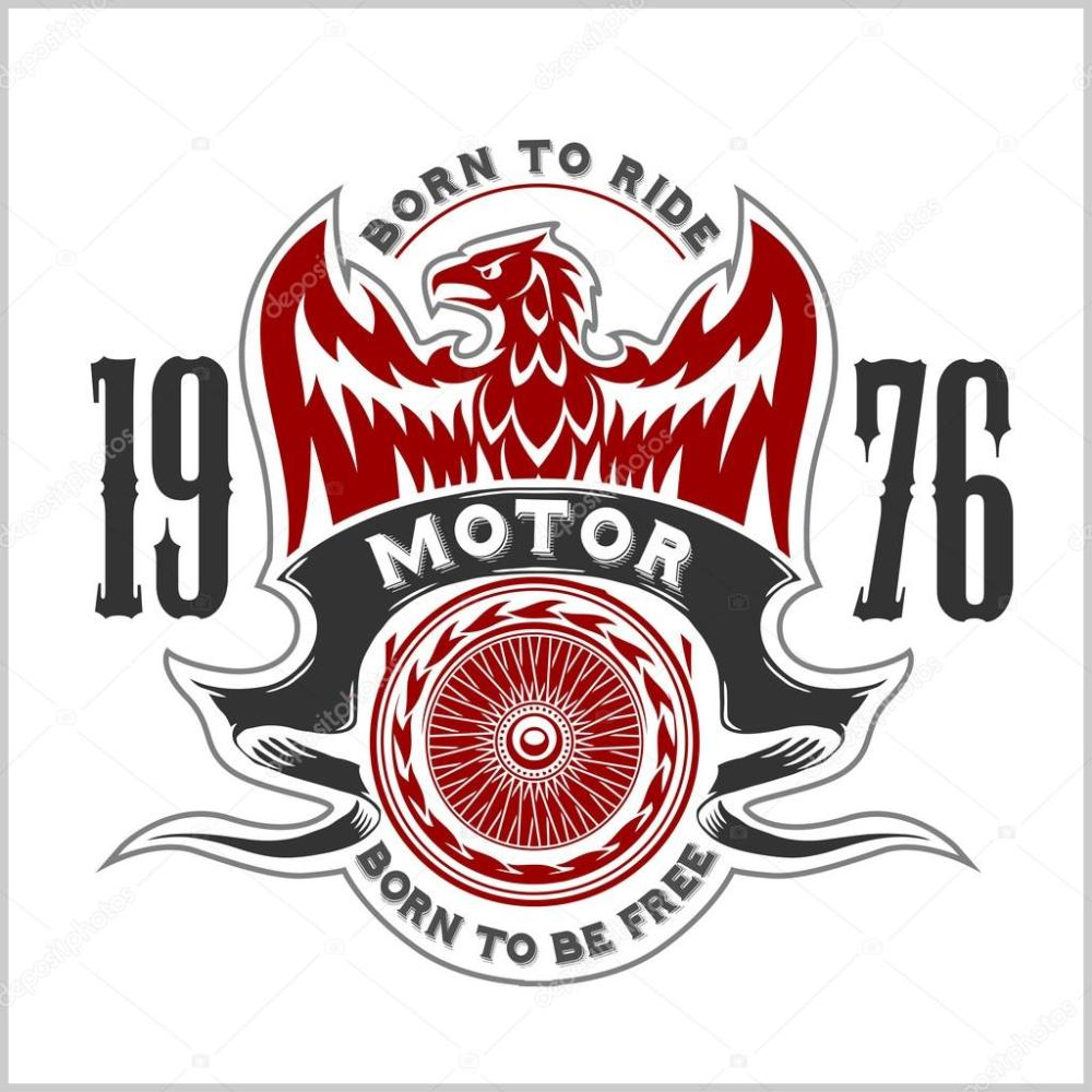 medium resolution of american eagle moto club emblem vintage conception de typographie pour le club de motards boutique personnalis t shirts et impressions vecteur par