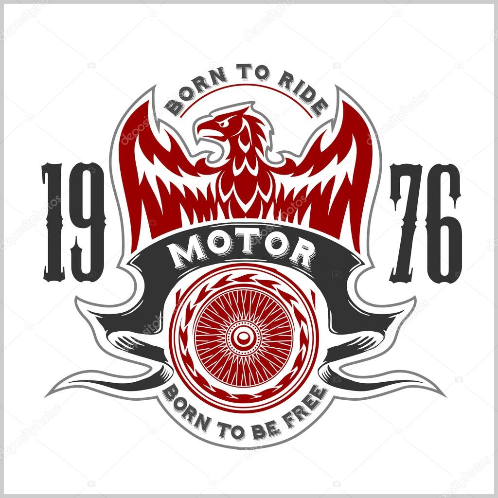 hight resolution of american eagle moto club emblem vintage conception de typographie pour le club de motards boutique personnalis t shirts et impressions vecteur par