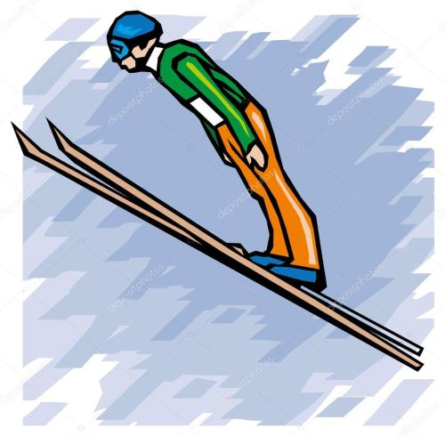 small resolution of winter olympic games ski jumping vector illustration sport set 18 vector by digital clipart