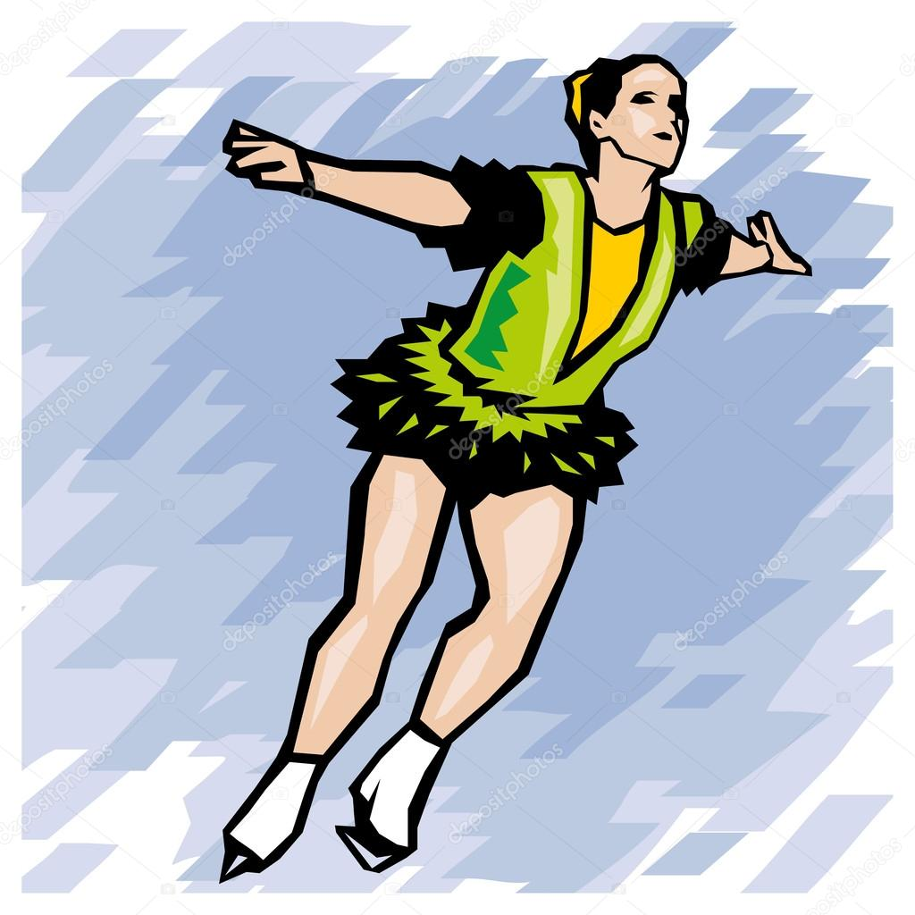 hight resolution of figure skating winter olympic games vector illustration vector by digital clipart