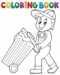 Tema de recolector de basura de libro para colorear 1 ...