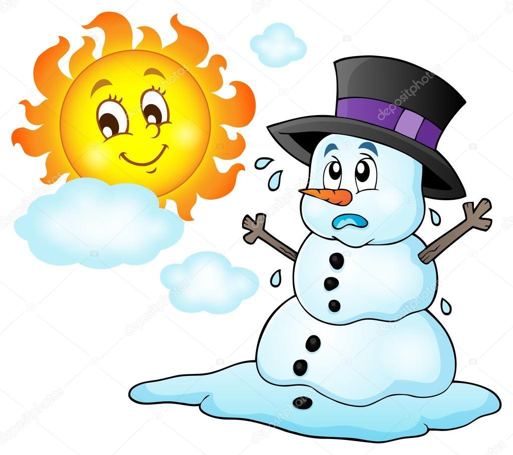Melting Snowman Theme Image 1