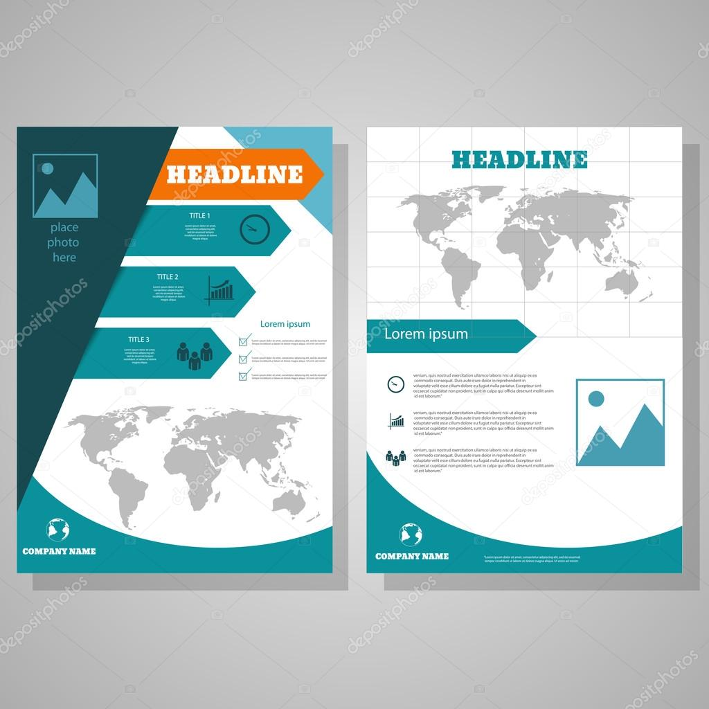 Brochure Flyer Design Layout Template Size A4 Front Page
