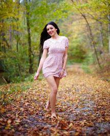 Barefoot Woman In Forest Stock Xalanx #57572775