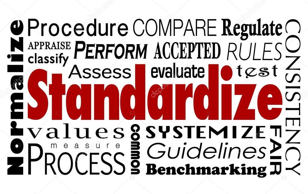 Standardize Word Collage — Stock Photo © iqoncept #88446158
