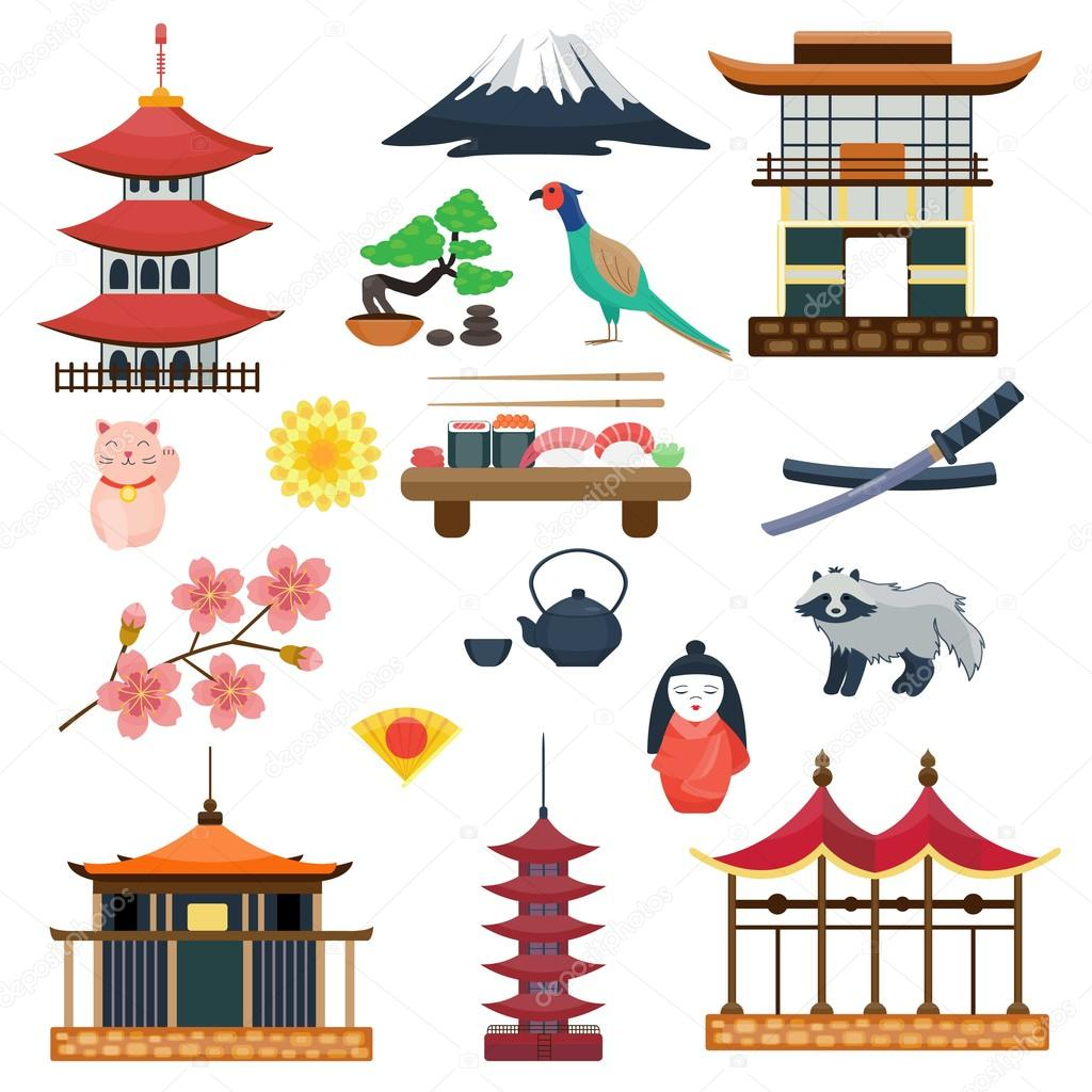 Japan Vector Collection Japanese Traditional Symbols Culture