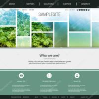 Website Design for Your Business with Green and Blue Tiled ...
