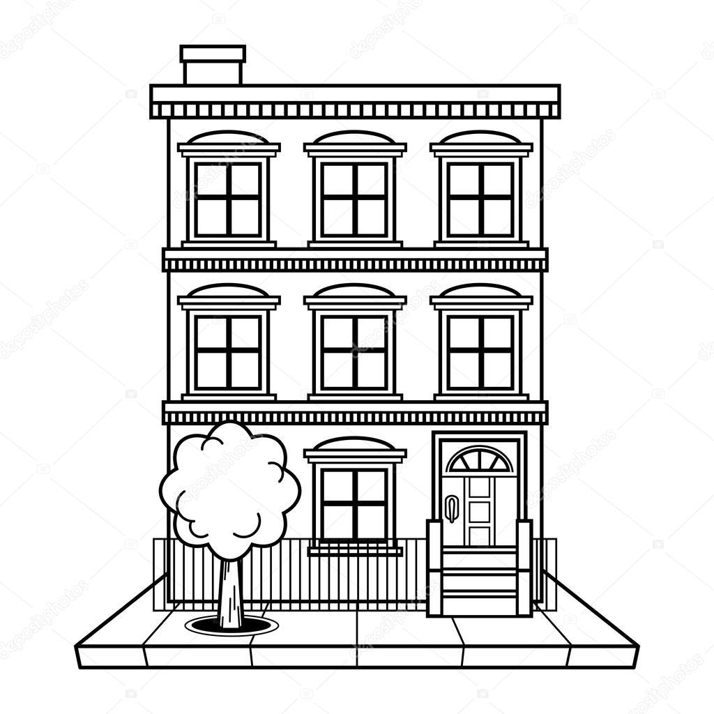 Apartment Building Vector