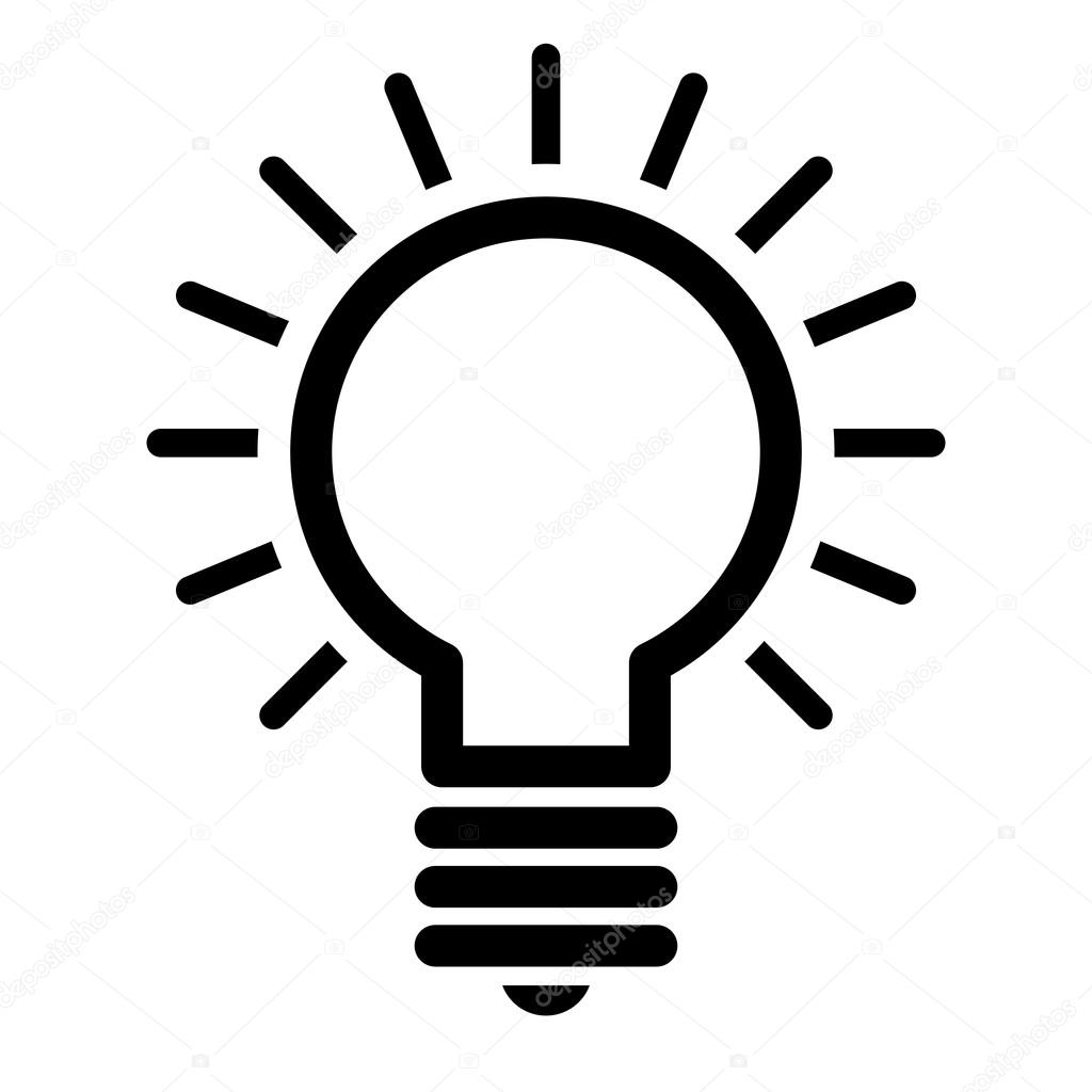 Gloeilamp Idee Vector Icon