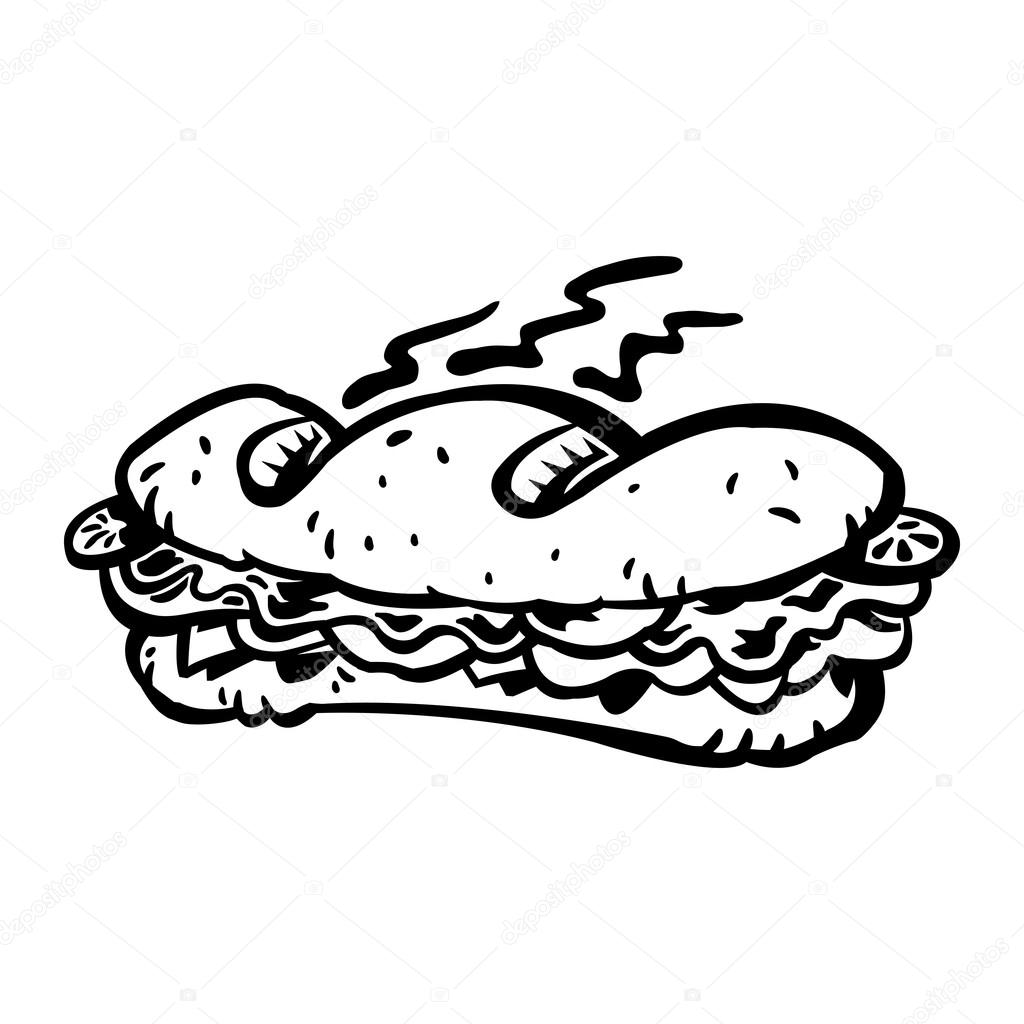 Sandwich Lunch Meal Vector Icon