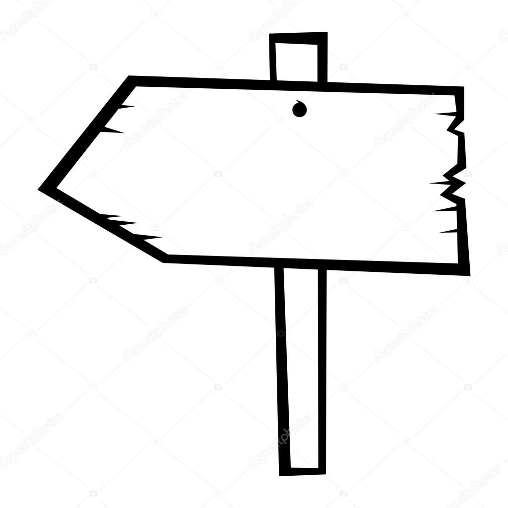 Old Wooden Arrow Direction Road Sign Vector Icon