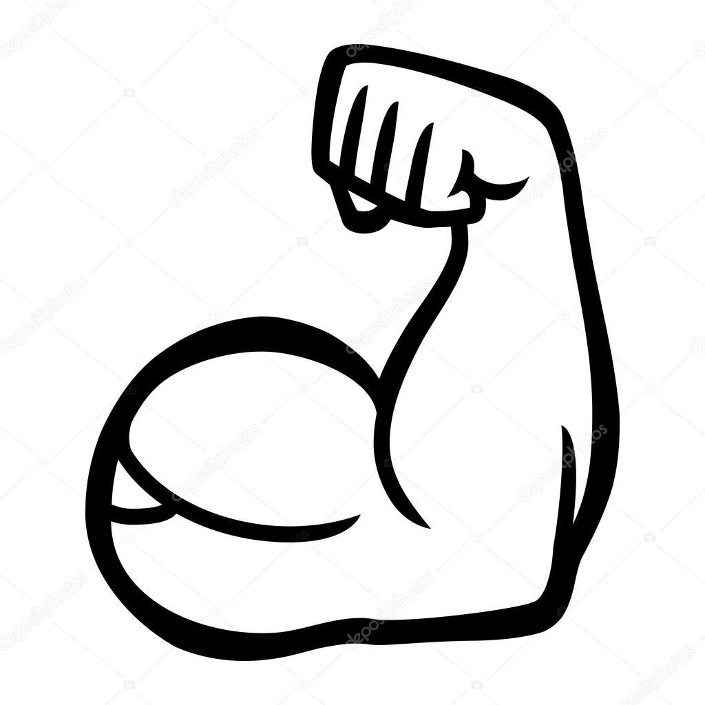Flexion De Biceps Brazo Vector Icono
