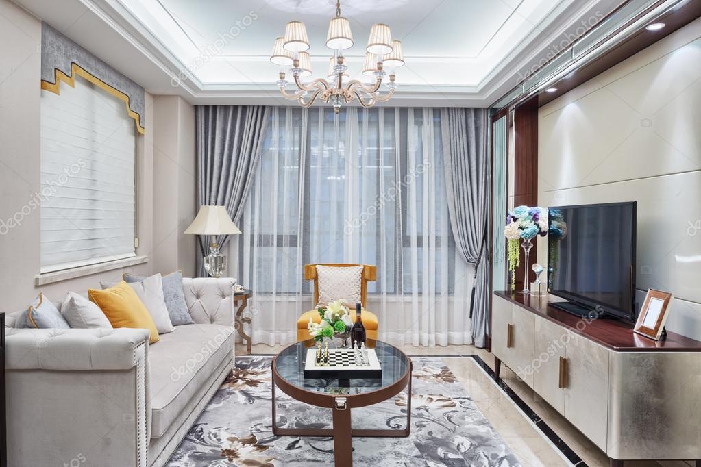 moderne woonkamer luxe decoratie interieur  Stockfoto