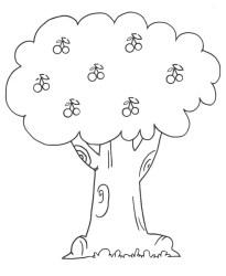 outline cherry tree depositphotos
