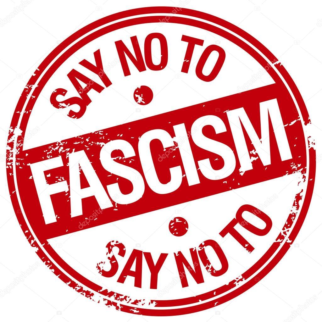 Diga no ao fascismo  Vetor de Stock  mediterranean