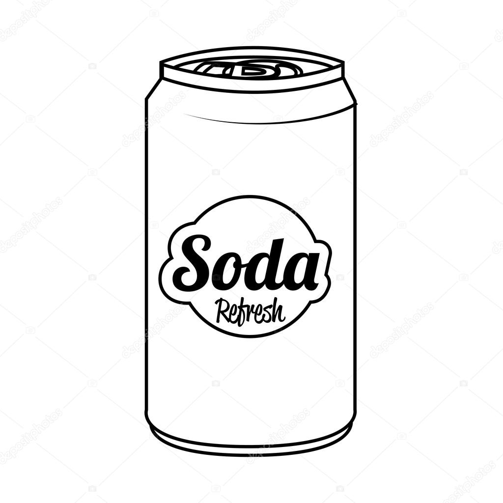 Soda can isolated flat icon, vector illustration. — Stock