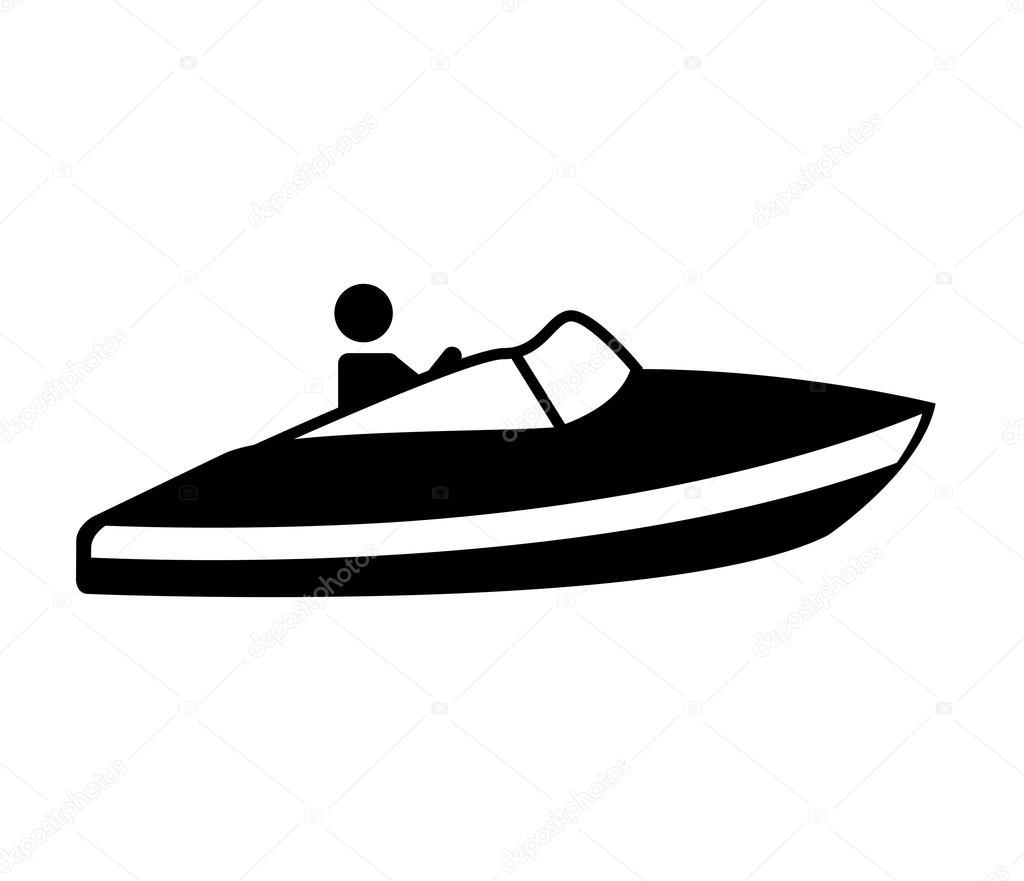 Schnellboot Silhouette Symbol