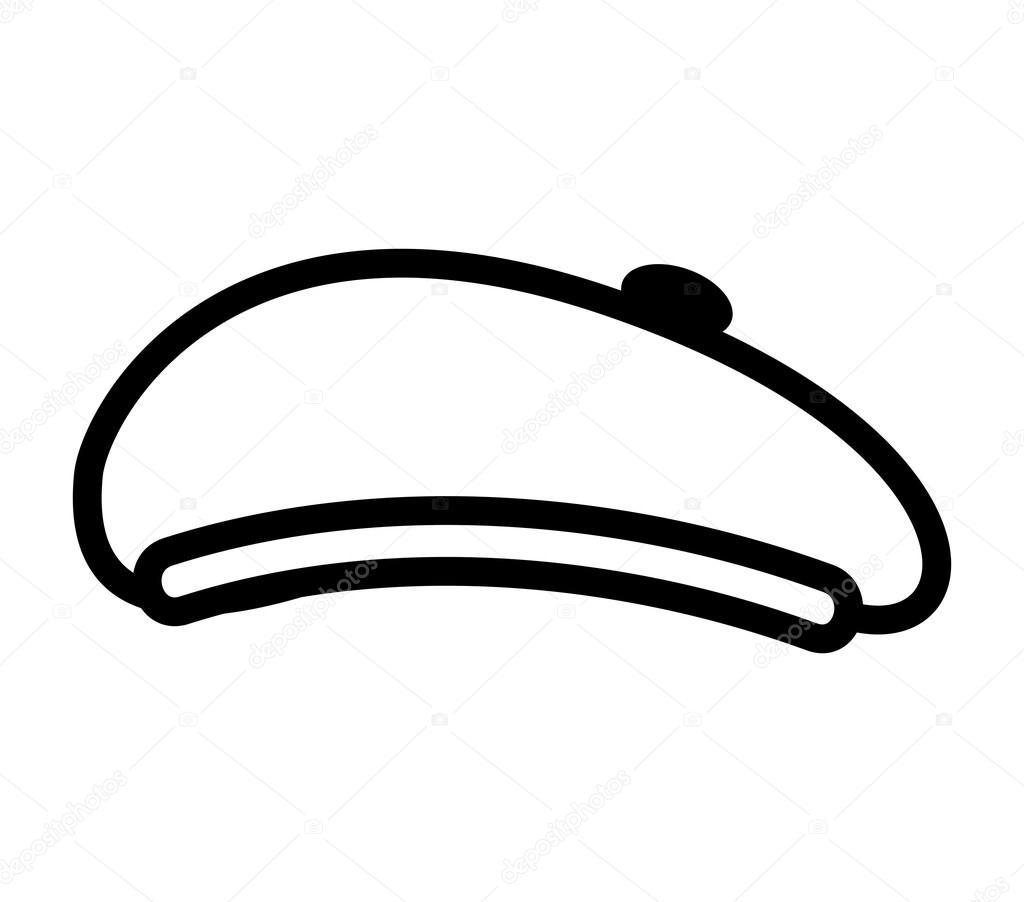 boina de estilo retro de sombrero  Archivo Imgenes