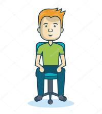 Cartoon Man Sitting On Chair | www.pixshark.com - Images ...