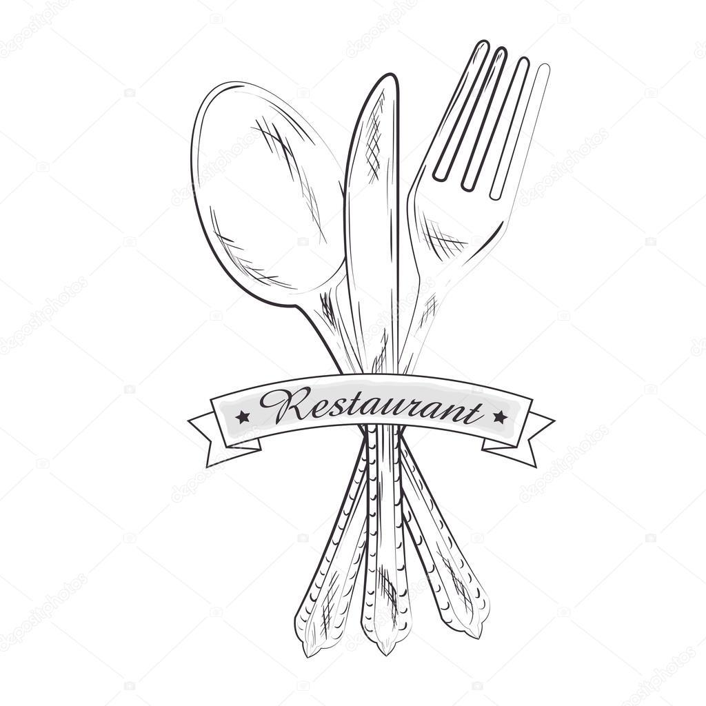 Restaurant and kitchen dishware — Stock Vector © yupiramos