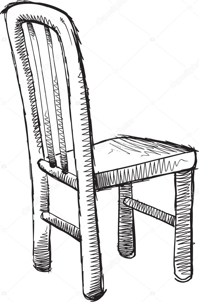Doodle Sketch Chair — Stock Vector © MisterElements #68538553