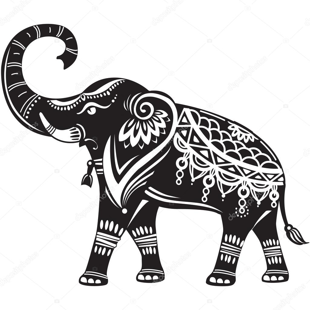 Stylized Decorated Elephant