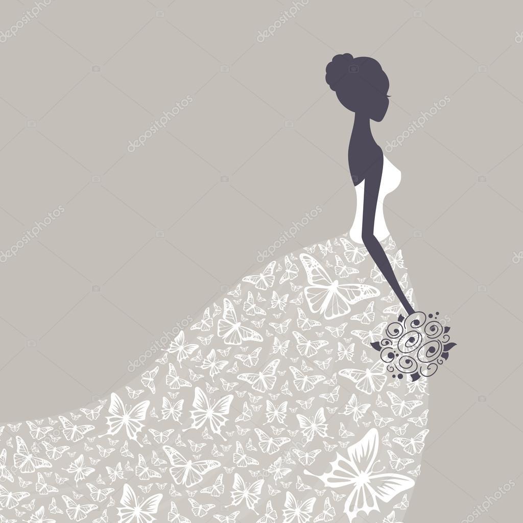 Vector Beautiful Bride