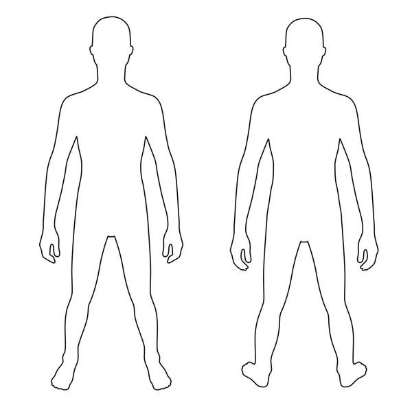 Módní člověka nastínil šablonu celé délce postava silueta