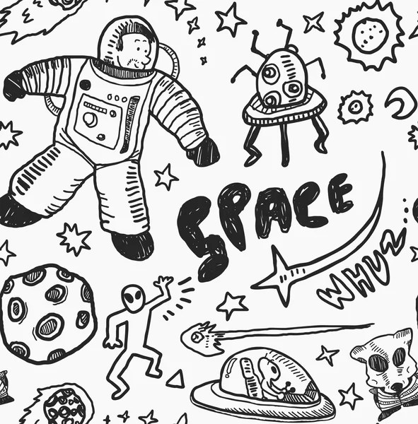 Cartoon space object background — Stock Vector © mhatzapa