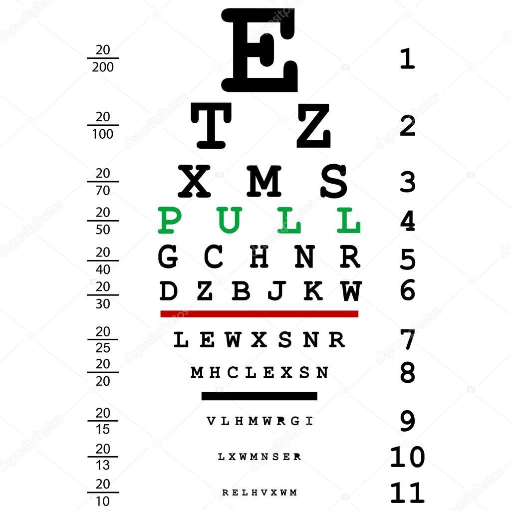 Oční oční test — Stock Vektor © hibrida13 #55972357