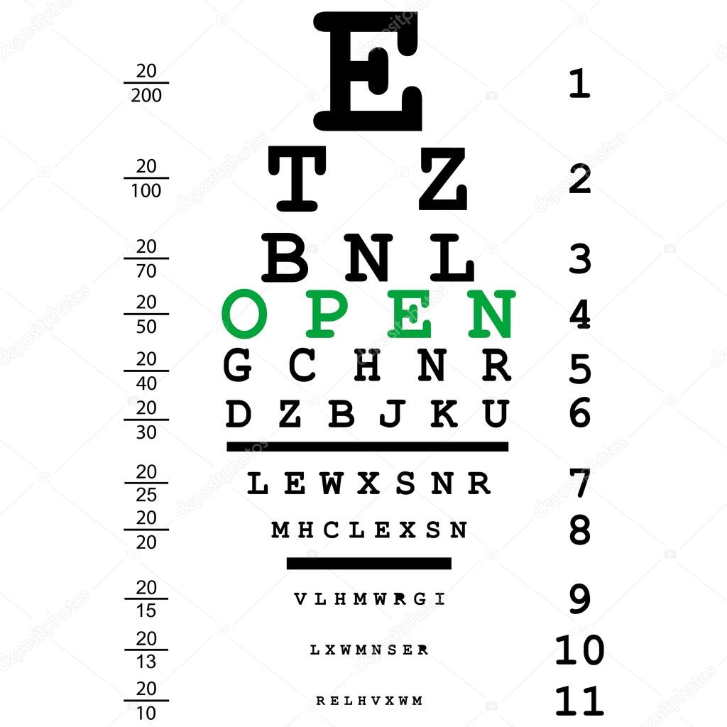 Optical eye test — Stock Vector © hibrida13 #55972813