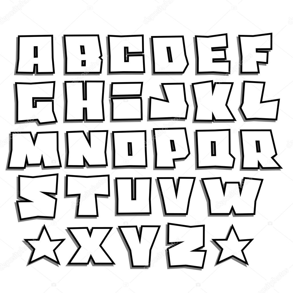 Drawing Graffiti Bubble Letters E