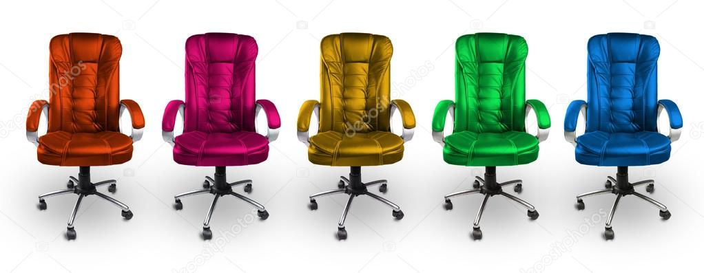 colorful desk chairs white swing chair office red pink yellow green and blue stock photo by akhilesh