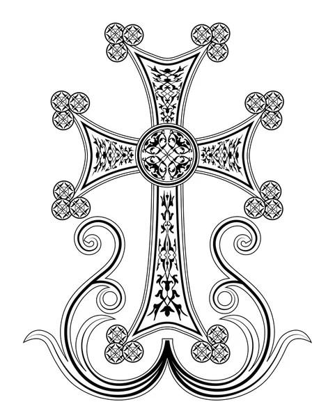Ornate Cross Vector — Stock Vector © vectorfreak #31674051
