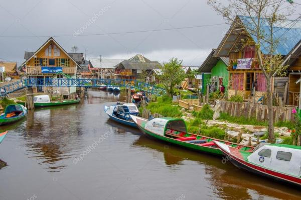 PASTO COLOMBIA JULY 3 2016 some boats parked on the