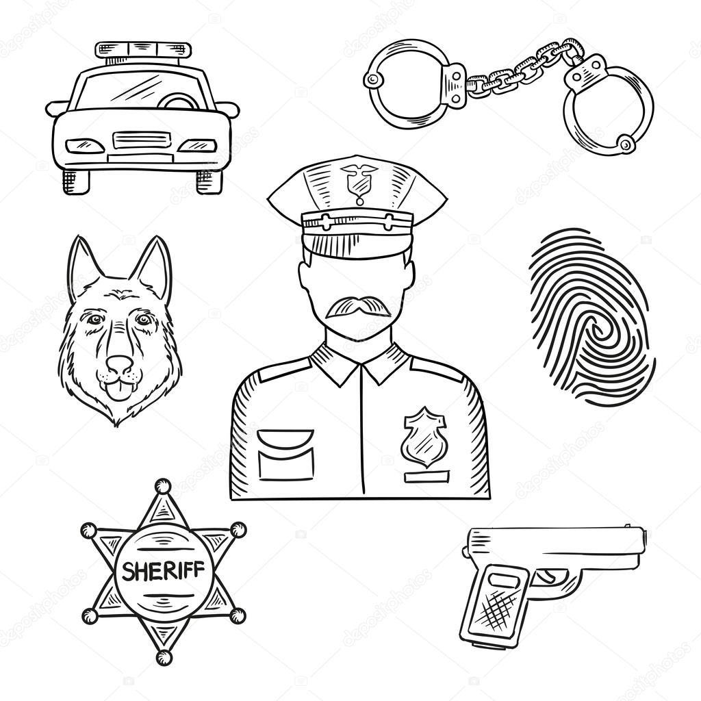 Sketch Image Of Policeman